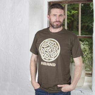 Khaki Ireland Celtic Knot T-Shirt