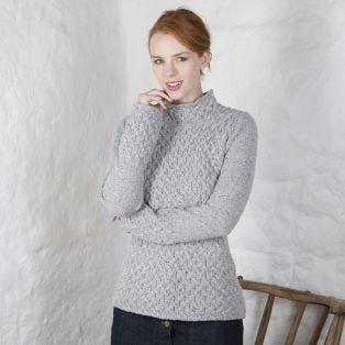Ladies Trellis Irish Sweater