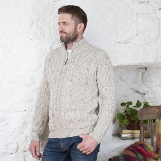 Men's Soft Merino Wool Zip Cardigan
