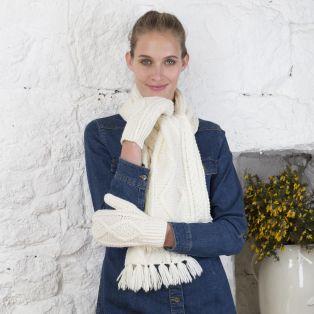 Merino Wool Aran Mittens