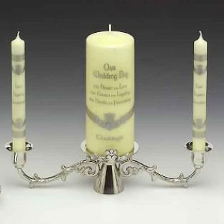 Mullingar Pewter Claddagh Unity Candlestick Holder
