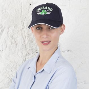 Navy Ireland Shamrock Baseball Cap