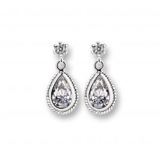 Newbridge Earrings Clear Stone