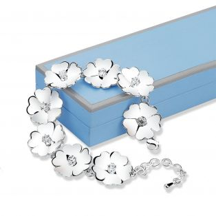 Newbridge Waterlily Clear Stone Bracelet