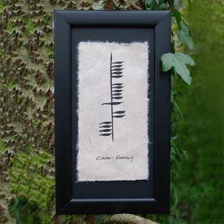 Ogham Clann Framed Print