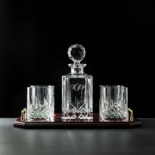Personalized Galway Crystal Longford Whiskey Decanter Set