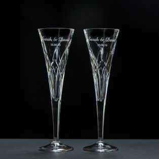 Personalized Galway Crystal Mystique Romance Flutes
