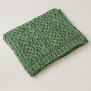 Plaited Celtic Merino Wool Throw