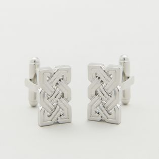 Rhodium Celtic Knot Cufflinks