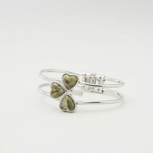 Shamrock Connemara Marble Bangle