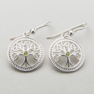 Silver Celtic Tree of Life Earrings