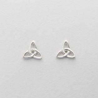 Silver Celtic Trinity Knot Earrings