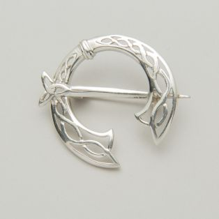 Silver Trinity Knot Celtic Warrior Brooch