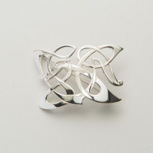 Sterling Silver Celtic Hound of Oisin Brooch