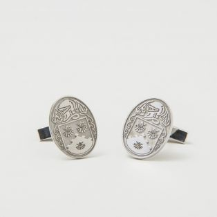 Sterling Silver Family Coat of Arms Cufflinks