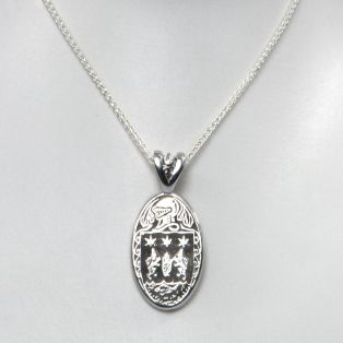 Sterling Silver Personalized Coat of Arms Pendant