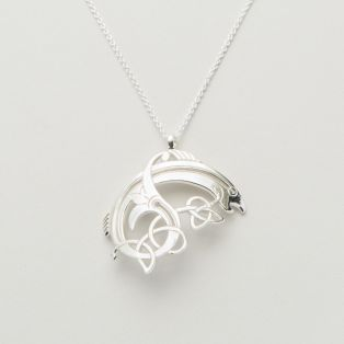 Sterling Silver Salmon of Knowledge Pendant