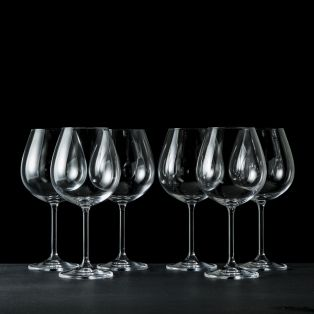 Tipperary Crystal Connoisseur Set of 6 Wine Glasses