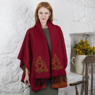 Trinity Knot Celtic Shawl and Scarf Set