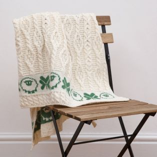 Sheep & Irish Shamrock Baby Blanket