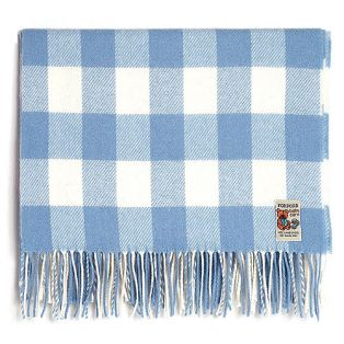 Irish Made Foxford Check Baby Blanket