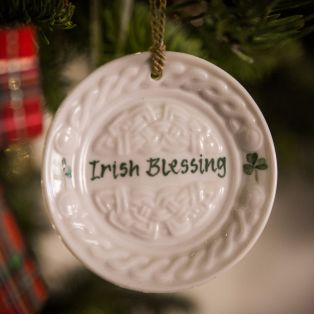 Belleek Celtic Plate Ornament