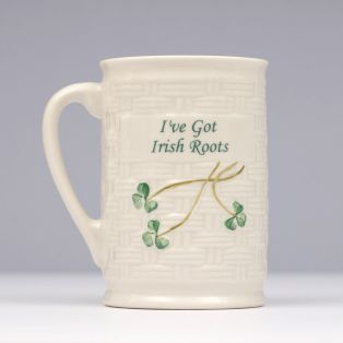 Belleek I've Got Irish Roots Mug