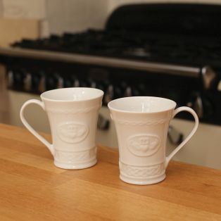 Belleek Claddagh Mugs