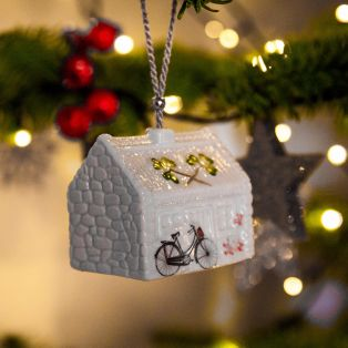 Belleek Nells Cottage Hanging Ornament