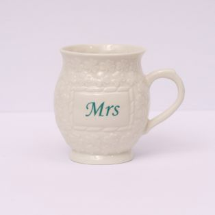 Belleek Mrs Shamrock Mugs
