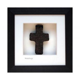 Irish Bog Framed Cross