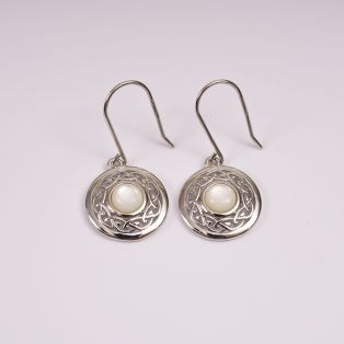 Celtic Knot Earrings with Mother of Pearl