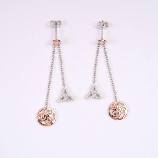 Trinity Knot Triskel Earrings