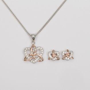 Trinity Knot Heart Earrings & Pendant