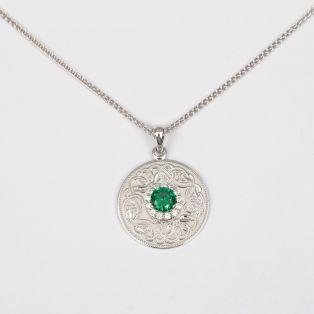 The Celtic Warrior Pendant Green