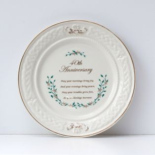 Belleek 40th Anniversary Plate