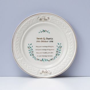 Belleek Happy Anniversary Plate