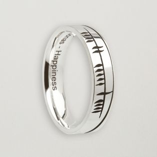 Ogham Sonas Happiness Ring