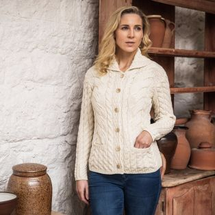The Corrib Cable Aran Cardigan
