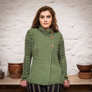 The Newgrange Aran Cardigan Sweater