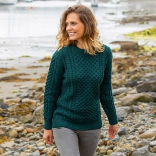 Womens Traditional Aran Sweater