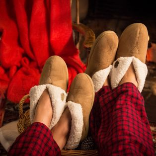 Ladies' Cozy Slippers by Aran Craft
