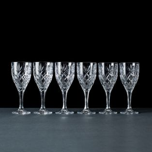 Galway Crystal Renmore Wine Goblets Set of 6