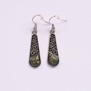 Connemara Marble Trinity Knot Drop Earrings