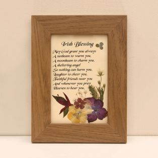 Framed Classic Irish Blessing Gift