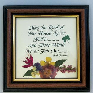 Framed Irish Proverb Wild Flower Gift