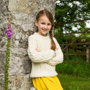 Girls Cara Aran Sweater