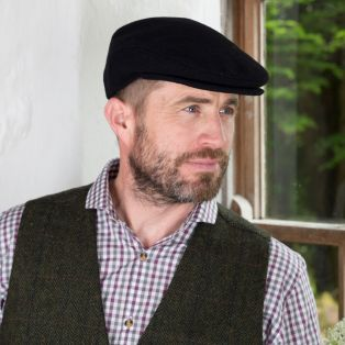 Black Irish Flat Cap