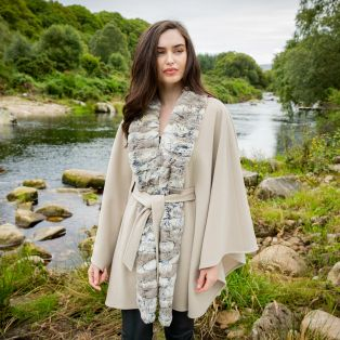 Cream Delfi Belted Irish Cape