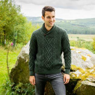 Enniscone Army Green Aran Sweater
